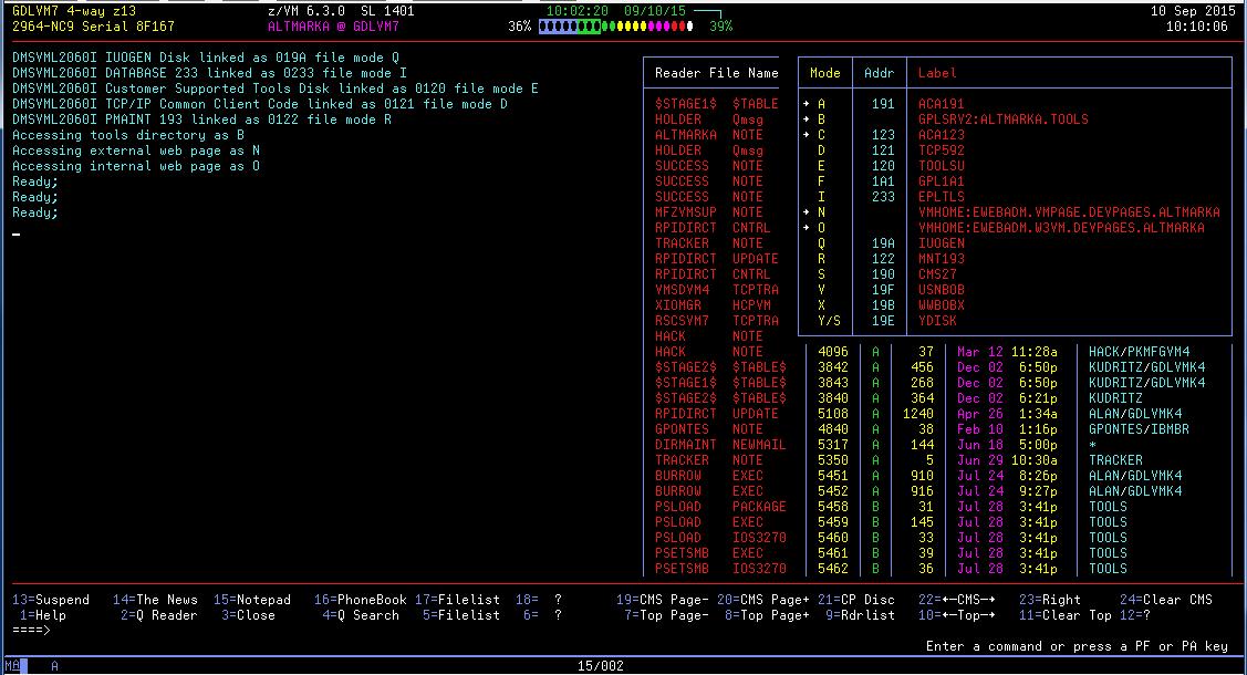 IBM z/VM mainframe OS - runnin...